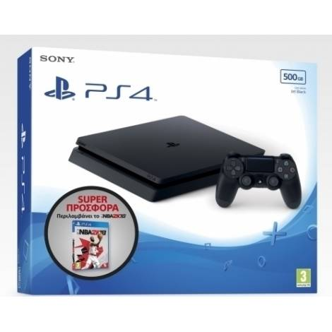 PlayStation 4 500GB E Chassis Black + NBA2K18