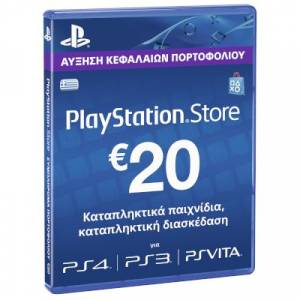 Playstation Network Live Card 20 Euro (for PS3, PS4, PSP, PS VITA users)