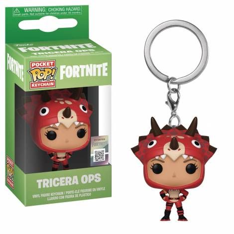 Pocket POP! Fortnite: Tricera Ops - Vinyl Figure Keychain