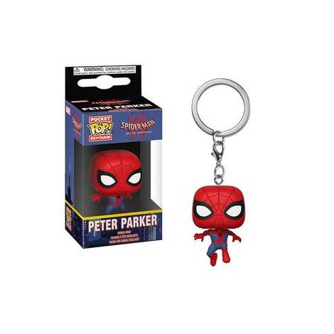 Pocket POP! Spider-Man Into the Spider-Verse: Peter Parker Keychain