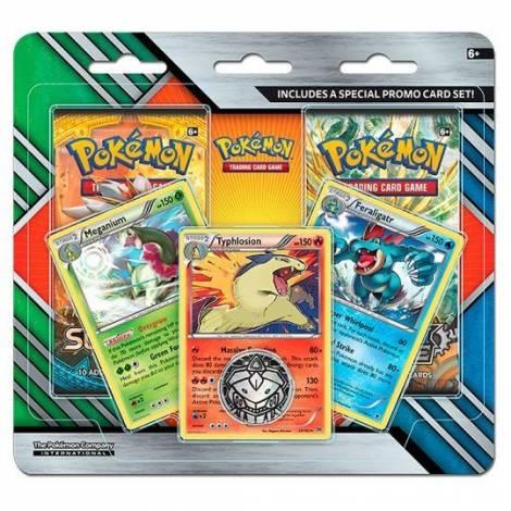 Pokemon TCG 2-pack BLISTER Booster Meganium Typhlosion Feraligatr