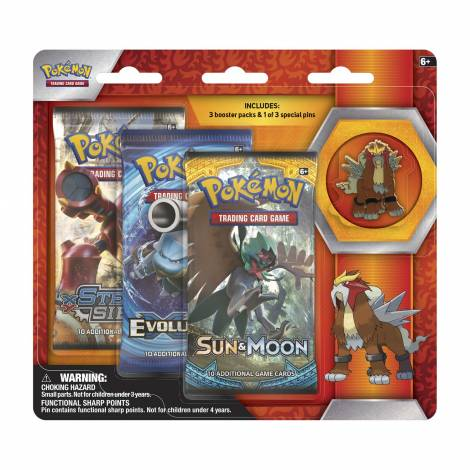 Pokemon TCG – Legendary Beasts Collector's Pin 3-Pack Entei
