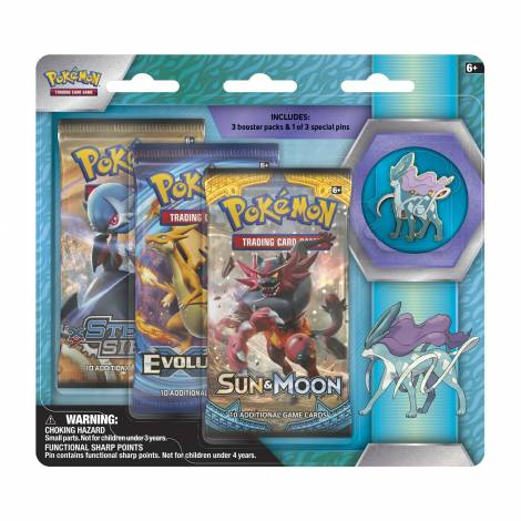 Pokemon TCG – Legendary Beasts Collector's Pin 3-Pack Suicune