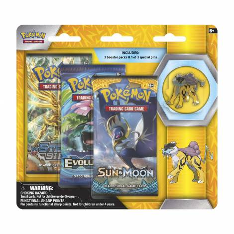 Pokemon TCG – Legendary Beasts Collector's Pin 3-Pack Raiku