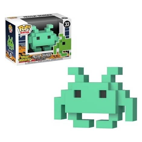 POP! 8 Bit: Space Invaders- Medium Invader #33 Aqua Vinyl Figure