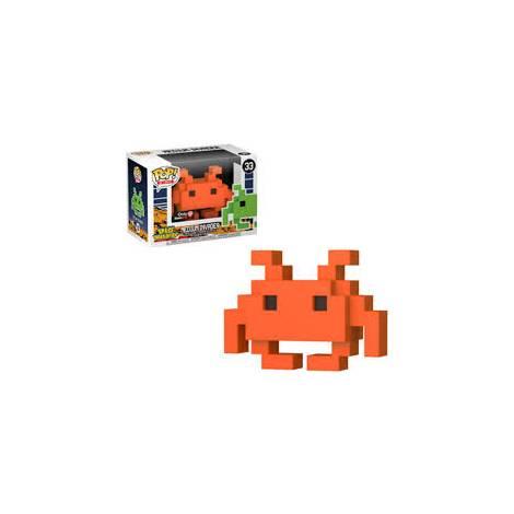 POP! 8 Bit: Space Invaders- Medium Invader #33 Orange Vinyl Figure