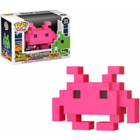 POP! 8 Bit: Space Invaders- Medium Invader #33 Pink Vinyl Figure