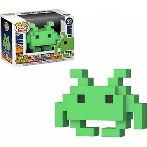 POP! 8 Bit: Space Invaders- Medium Invader #33 Green Vinyl Figure
