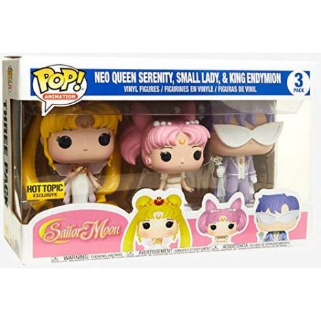 POP! Animation: Sailor Moon - Neo Queen Serenity, Small Lady, King Endymion 3-Pack