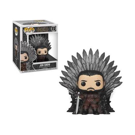 POP!  Deluxe: Game of Thrones S10 - Jon Snow Sitting on Throne #72 Vinyl Figure
