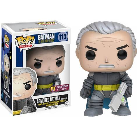 POP! Heroes: Batman The Dark Knight Returns - Unmasked Armored Batman #113 Vinyl Figure