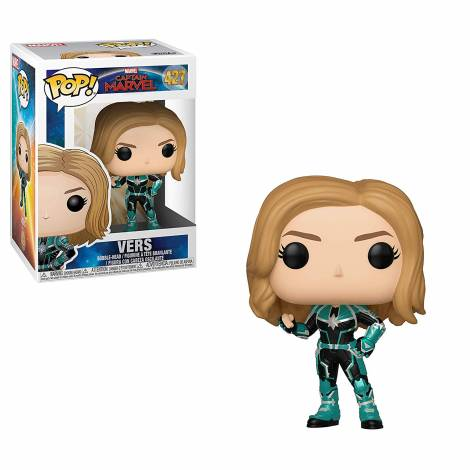 POP! Marvel: Captain Marvel - Vers #427 Bobble-Head Figure