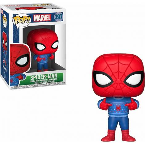 POP! Marvel: Holiday Spider-Man with Ugly Sweater #397 Bobble-Head Figure
