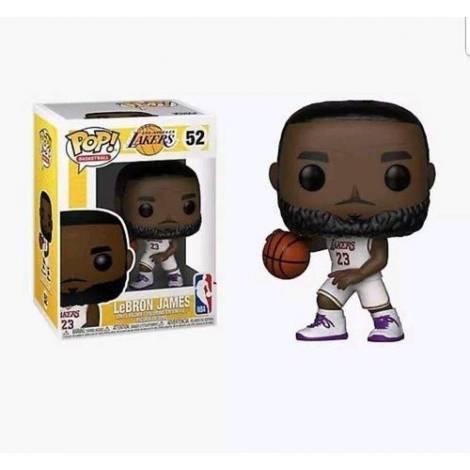 POP! NBA: Lakers - Lebron James (White Uniform) #52 Vinyl Figure
