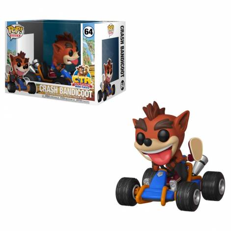 Funko Pop! Rides: Crash Team Racing - Crash Bandicoot #64 Vinyl Figure