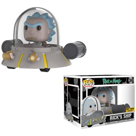 POP! Rides: Rick & Morty - Rick's Ship (Special Edition) #34 Vinyl Figure