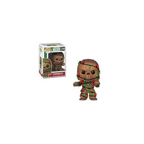 POP! Star Wars: Holiday Chewbacca with Lights #278 Bobble-Head Vinyl Figure