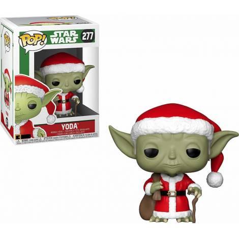 POP! Star Wars: Holiday Santa Yoda #277 Bobble-Head Vinyl Figure