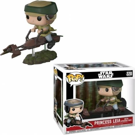POP! Star Wars: Leia With Speeder Bike* #228 Vinyl Bobble-Head Figure