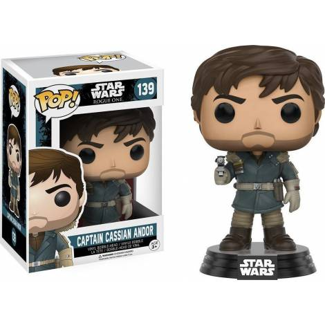 POP! Star Wars: Rogue One - Captain Cassian Andor Brown Jacket #151 Vinyl Bobble-Head Figure