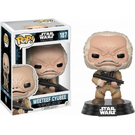 POP! Star Wars: Rogue One - Weeteef Cyubee #187 Vinyl Bobble-Head