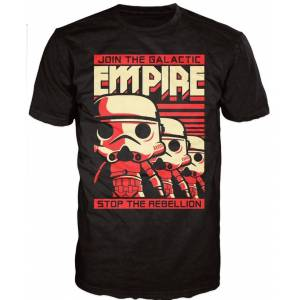 POP! TEE: STAR WARS: STORMTROOPER POSTER (MENS M) T-SHIRT