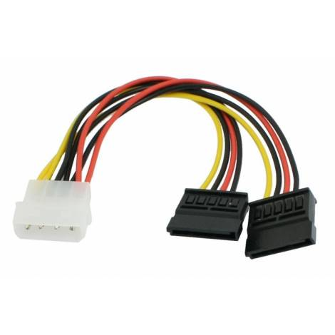 Powertech καλώδιο ρεύματος, μετατροπέας IDE σε 2 x S-ata, 20cm (CAB-W003)