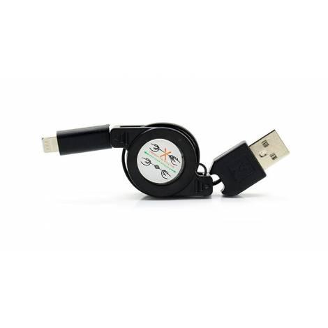 POWERTECH Καλώδιο USB σε 8-pin, πτυσσόμενο, 0.70m, μαύρο (CAB-U104)