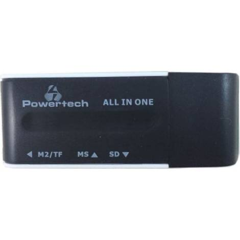 Powertech USB Card Reader - Black (PT-161)