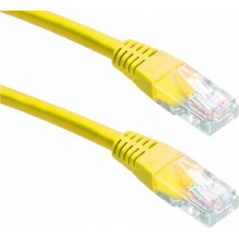 Powertech U/UTP Cat.5e Cable 0.5m Κίτρινο (CAB-N056)