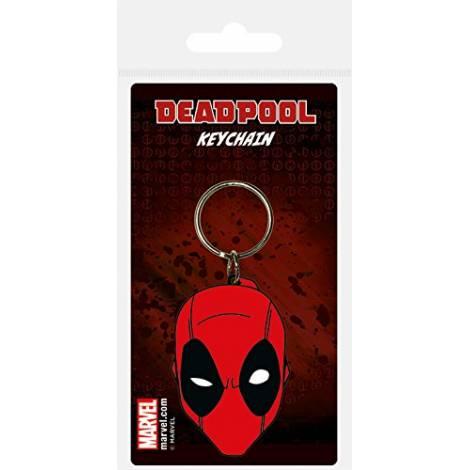 Pyramid Deadpool - Face Rubber Keychain (RK38556C)