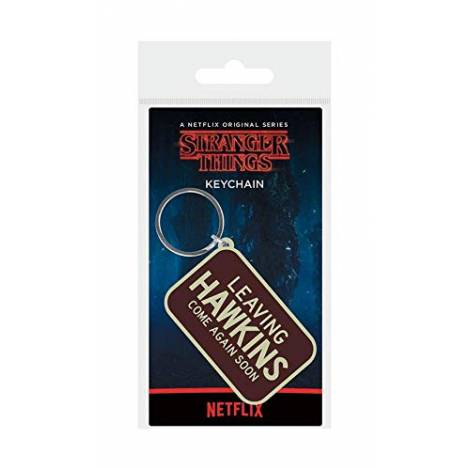 Pyramid Stranger Things - Leaving Hawkins Rubber Keychain (RK38890C)