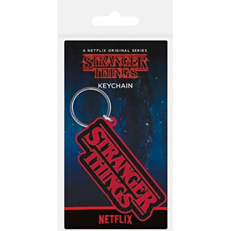 Pyramid Stranger Things - Logo Rubber Keychain (RK38886C)