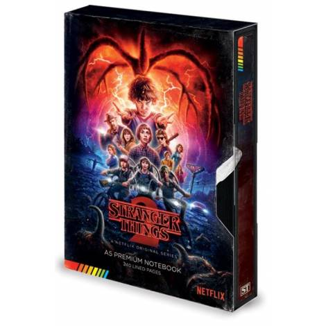 Pyramid Stranger Things - S2 VHS Premium A5 Notebook (SR72808)