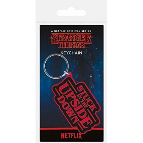 Pyramid Stranger Things - Stuck In The Upside Down Rubber Keychain (RK38887C)