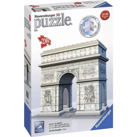 Ravensburger - 3D Puzzle Arc de Triomphe - Paris 216pcs (12514)