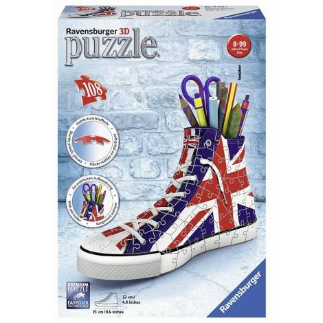 Ravensburger Πάζλ 3D 108τεμ. Sneaker UK Flag (11222)