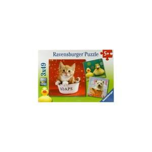 RAVENSBURGER PUZZLE - FUNNY ANIMALS (3x49pcs.) (09248)