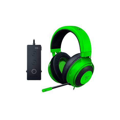 Razer KRAKEN TOURNAMENT (Green) - THX Audio Controller - Cooling Gel Ear Cups - Gaming Headset