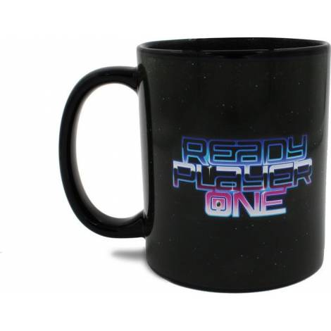 Ready Player One - RP1 Logo Black Heat Mug