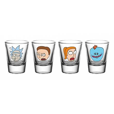 Rick and Morty - Faces 4x Shot Glasses (GLA0077)