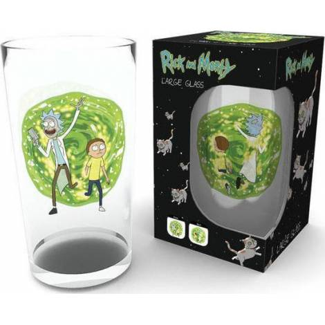 Rick and Morty - Portal Large Glass 500ml (GLB0117)