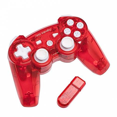 Rock Candy Wireless Controller - Red (PS3)