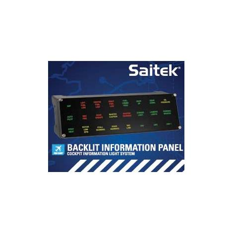 SAITEK ( LOGITECH ) PRO FLIGHT BACKLIT INFORMATION PANEL