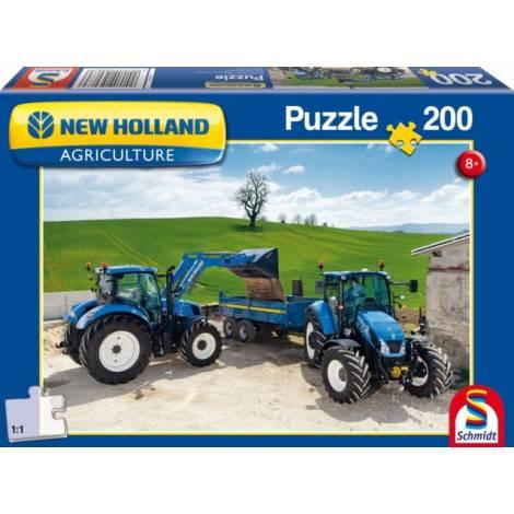 Schmidt 56083 Standard New Holland- T6AC T5EC Τρακτέρ Puzzle (200 pcs)