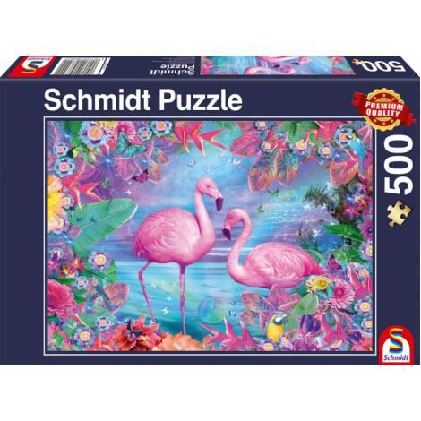 Schmidt 58342 Standard - Φλαμινγκο Puzzle (500 pcs)