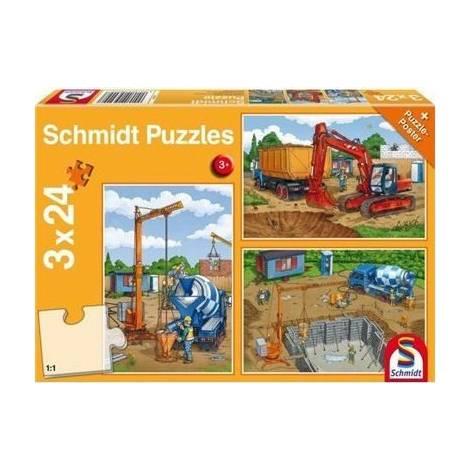 Schmidt - Εργοτάξιο Puzzle (3x24st) (56200)