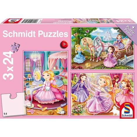 Schmidt - Πριγκίπισσες Puzzle (3x24st) (56217)