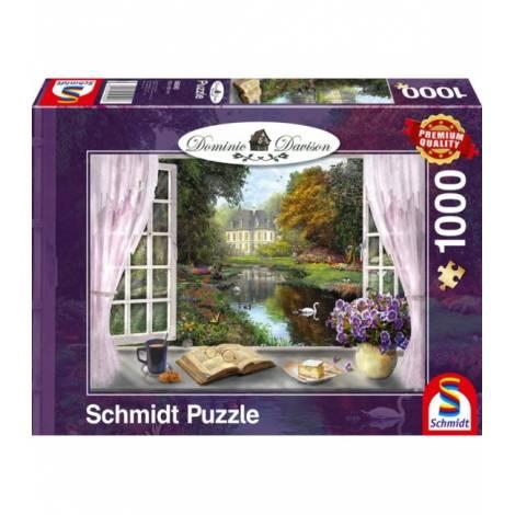 Schmidt Puzzle Davinson - Θέα του κήπου του πύργου (1000pcs) (59590)