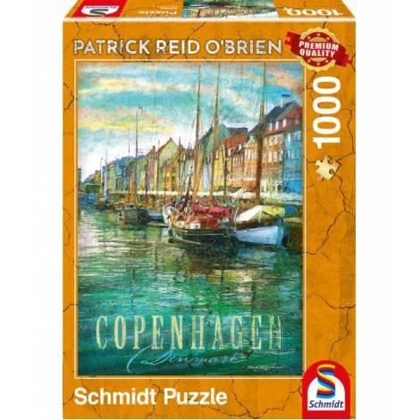 Schmidt Puzzle Obrien - Κοπεγχάγη, Δανία (1000pcs) (59583)